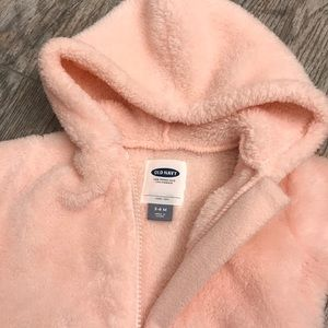 Old navy fuzzy pink jacket 3-6 months